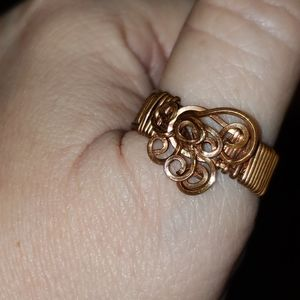 hand made abstract copper ring